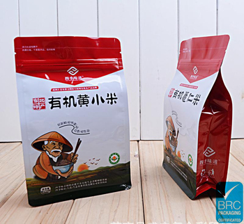 custom printing plastic Flat Bottom coffee bean stand up pouches with zipper