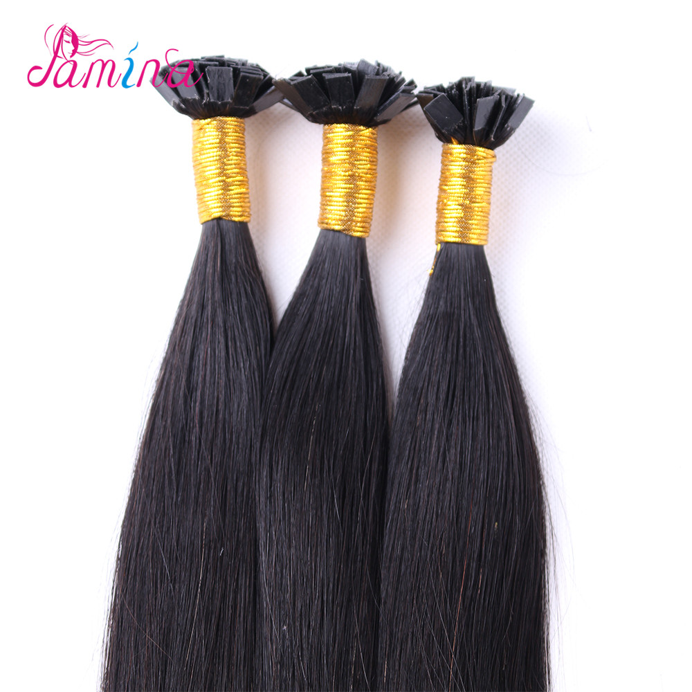 Wholesale remy indian I/U/V/Flat Tip hair extension products top quality indian human hair
