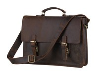 7223R-1 Hot Sale Dark Brown Handbag Classical Crazy Horse Leather Briefcase For Lawyer