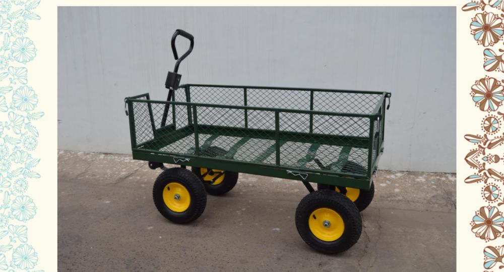 Steel Mesh Small Garden Tipper Cart Buy Garden Tipper