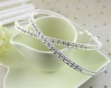 Bridal Bridesmaid Crystal Rhinestone Headband Silver Tiara Wedding <strong>Crown</strong> Prom F100794