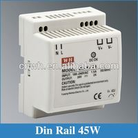 CE RoHS approved 15V DIN Rail DR-45-15 dc power supply 45w 3a