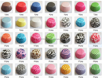 10000pcs assorted 10 different designs Greaseproof paper cupcake liners