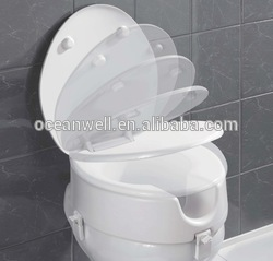 UF toilet seat cover with soft close and quick release function in black color