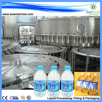 Automatic water bottle washing/filling/capping 3 in 1 machine,water making machine
