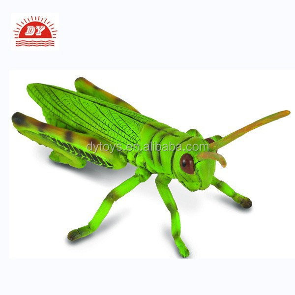 ICTI certificated collection plastic 11cm Grasshopper insect model