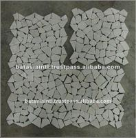 Broken Tile Interlocking Marble Natural Stone Flooring