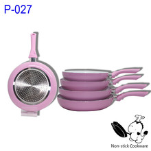 5pcs forged nonstick induction ceramic electric frying pan