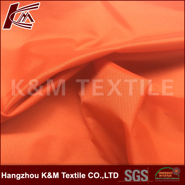 High quality outdoor fabric 210T ripstop coating nylon for inner/ outer fabric hangzhou silk fabrics suppliers