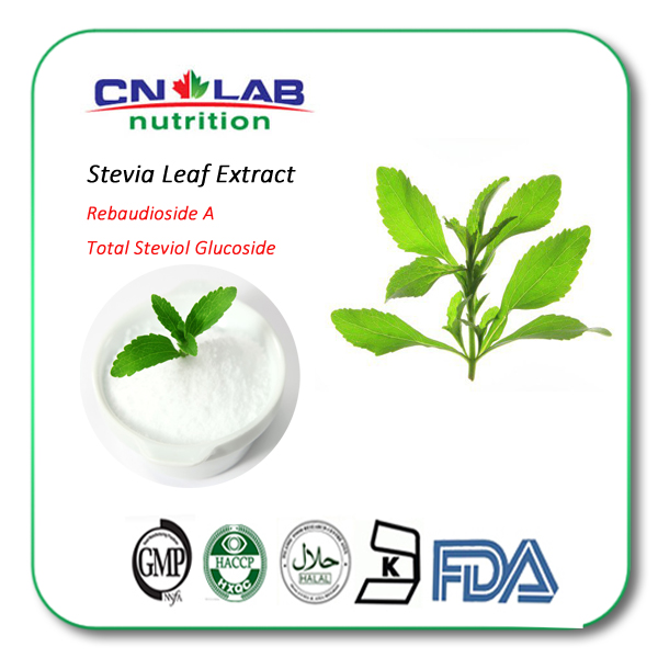 Stevia Extract Sweetener Total Steviol Glucoside 98% RA98% 450 Times Sweeter Than Sugar
