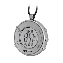 Spovan Altimeter Barometer Thermometer Pocket Watch Chronograph