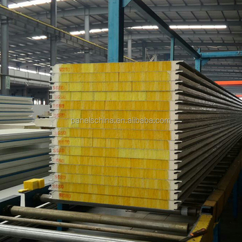 Fire resistance glass wool sandwich panel Pressure-stable and rigid Environmental health without formaldehyde Waterproof