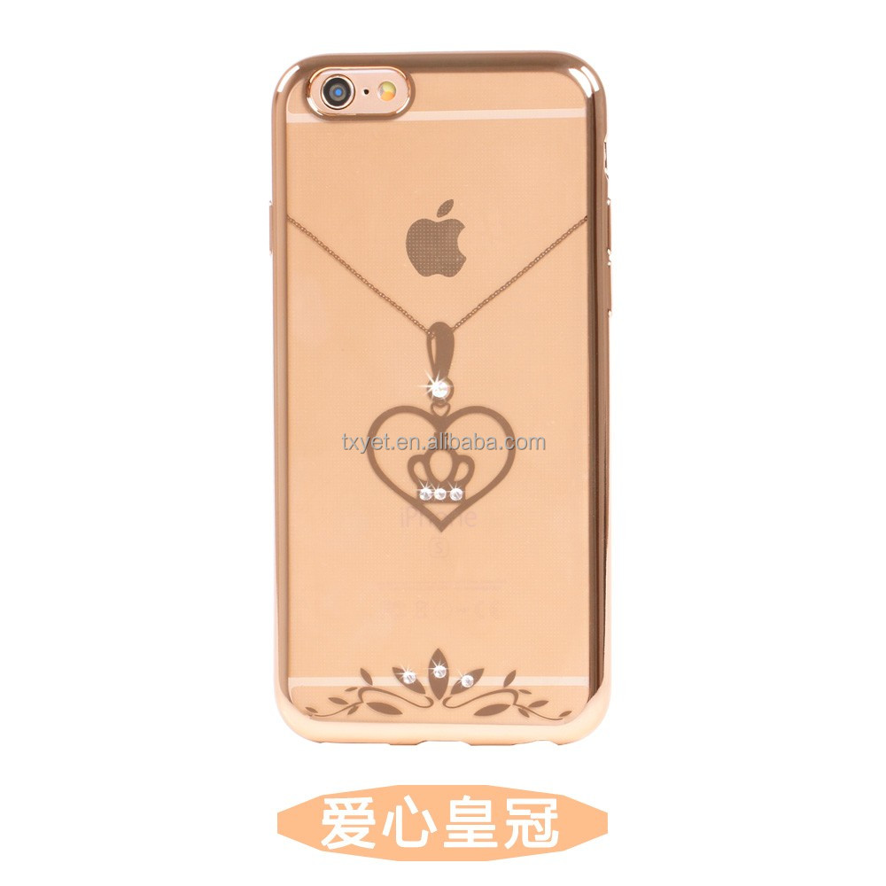 2016 cheapest phone case for iphone 7/ultra thin clear crystal diamond tpu silicone phone case for iphone7