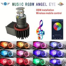 Xenon Headlight Wifi RGB remote Multi-Color LED Angel Eye Kit for B_M_W 1/3/6/X5 WIFI Phone Control Car LED Bulb