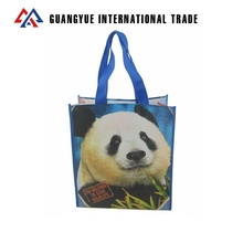 Guangyue 2018 New Arrival Cartoon Pp Non Woven Laminate Shopping Carrier Bag