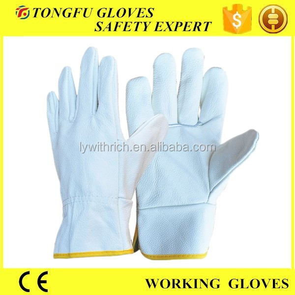 cheap funiture /pigskin/cow leather mens driving gloves without lining/full lining work gloves B grade