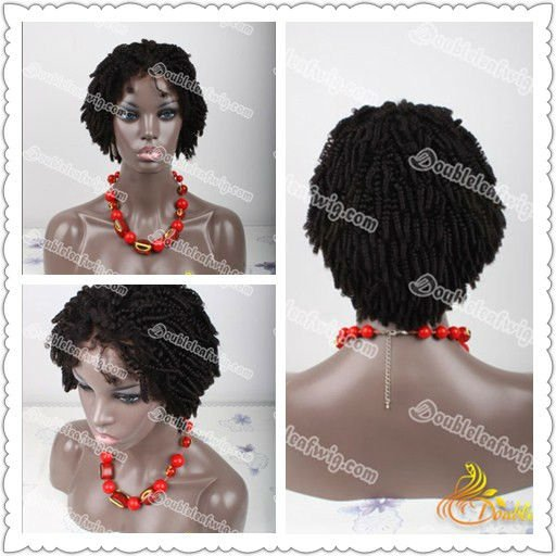 Curly afro human hair full lace wigs for black women