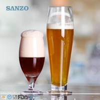 SANZO Hot Selling Gold Rimmed Mexican Blown Beer Glass