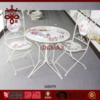 Metal tables and Chairs Decorative fashion style Chinese Factory Supply Cheap Metal desks and charis