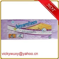 Plastic bag for packing cleaning products