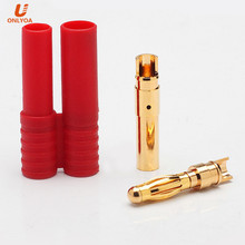 hxt 4.0mm gold bullet banana plug connector lipo battery power cable