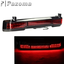 Newest Pazoma Unpainted LED Tail Brake Running Light for Harley Touring Trunk King Tour Pack