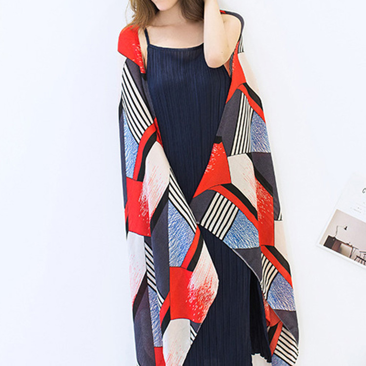 Fashion Summer Geometric Printing Cashmere <strong>Scarf</strong> for Woman