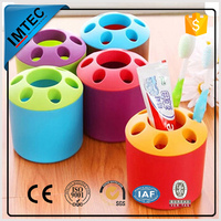 new style factory outlet colorful pen holder with clock