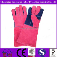 Cow Split Leather Long Cuff Welding Gloves | Long Sleeve Leather Welding Gloves