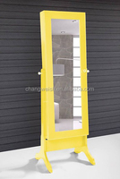 antique solid wood frame dressing mirror /used for shop yellow dressing mirror/clothes dressing mirror