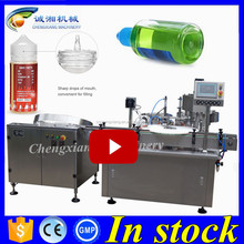 Hot sell in Greece plastic e-liquid bottle filler,auto ecig liquid filling line