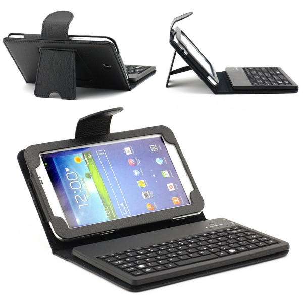 "7"" tablet pc leather keyboard case for Samsung Galaxy Tab 3 7.0 P3200 P3210"