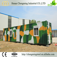 High Strength Prefabricated Recyclable Container Modular Solar Power Container Home