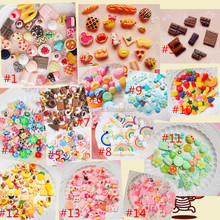 sweety style Fashion Mixed lot Food Resin Flatback cute Cabochons Decoden Pieces