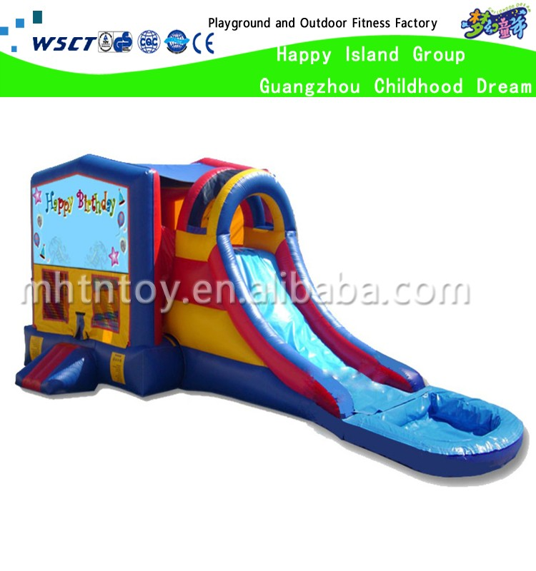 Inflatable water slide inflatable bouncer pool slide ball pool or small water park