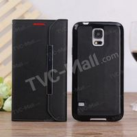2 in 1 Detachable Leather Magnetic Case w/ Card Slots for Samsung Galaxy S5 G900