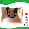 Glossy tote bag nonwoven silver lamination bag