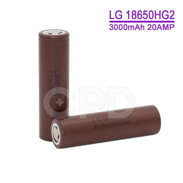 High Capacity Rechargeable 18650 HG2 Li-ion Battery 3000mAh for E-bike/E-cig