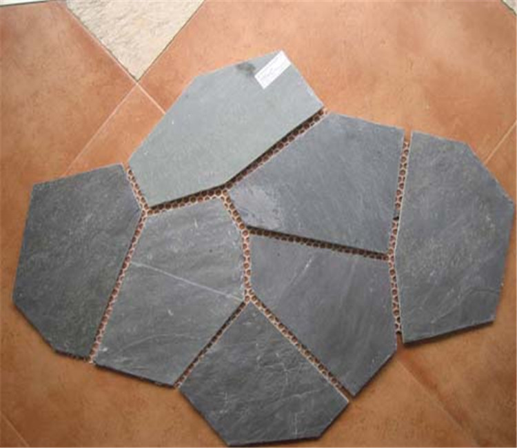 chinese meshed slate paver for home decoration
