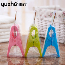 Custom Mini Colorful Kids Clothes Plastic Felt Clips Hanger 2P
