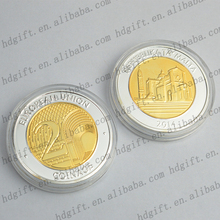 Gifts Crafts Euro Plating Coins Custom Zinc Alloy Medals