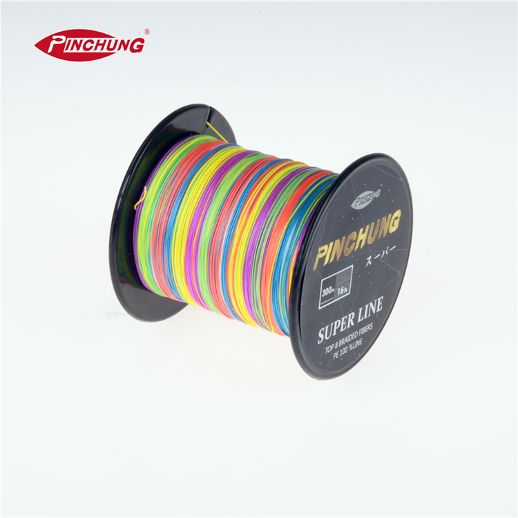 High Quality colorful <strong>PE</strong> 300m 4 strand braided tuna fishing line