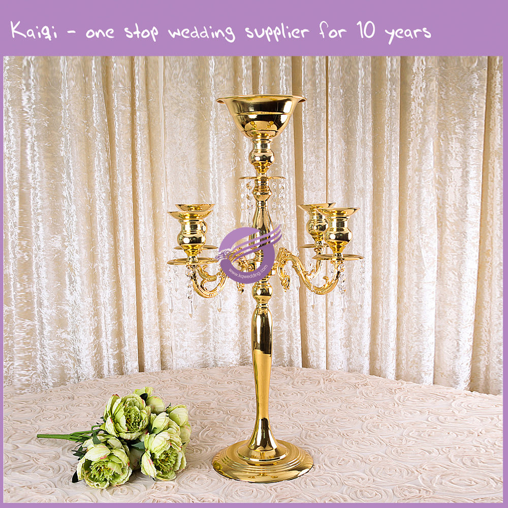 Metal candle holder gold wholesale wedding centerpiece