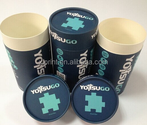 customized round cardboard cylinder box with lids / tube paper gift box for tea