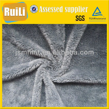 microfiber grey sherpa fleece fabric for blankets