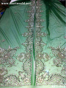 2014 magnificent green beaded sharara dress (KFT-012)
