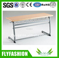 New style double student desk strong school desk furniture