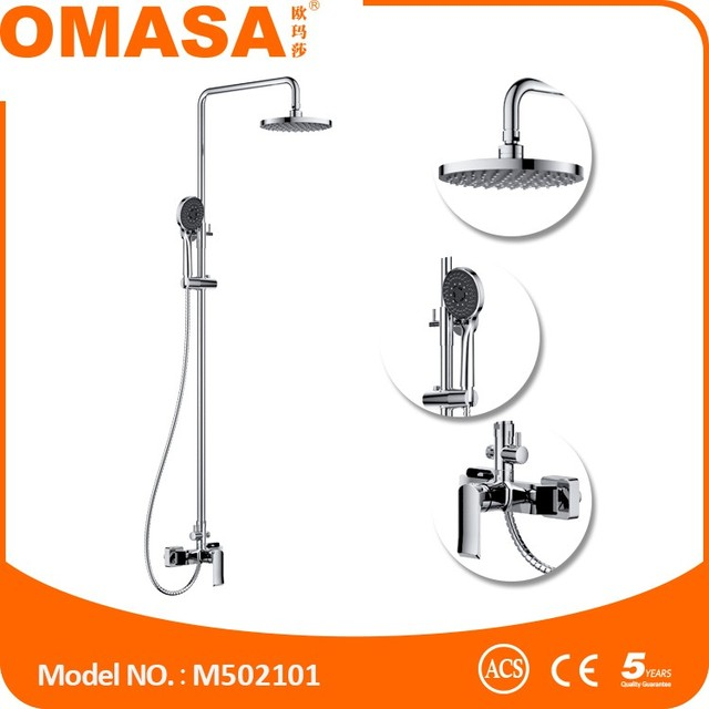 China faucet factory rain shower set for bathroom