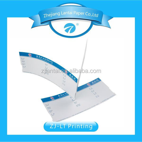 thermal paper Boarding pass label sticker