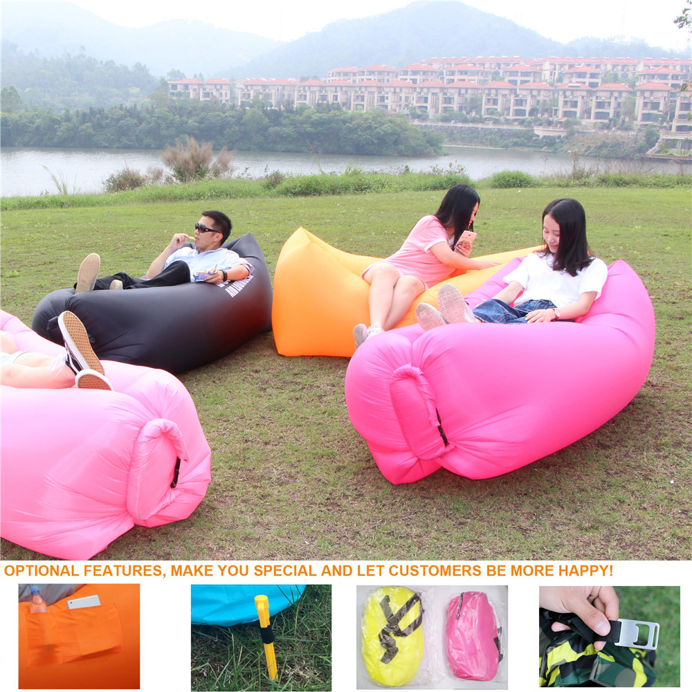 CE Approved Outdoor Convenient Inflatable Lounger Hangout Air Sleeping Bag Sofa